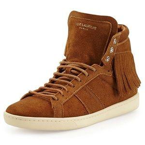 $895 SLP Suede Fringe Sneaker 37